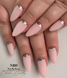 Rose Gold Nail Art Gold Nail Art, Pink Nail Art, Rose Gold Nails, Pink Nails, Gel Nails, Gel Nail Art Designs, Manicure, Pink Gold Nails, Nail Gel