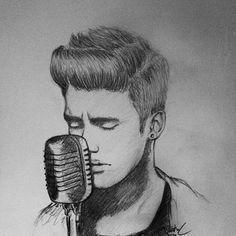 My justin bieber drawing