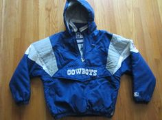 Vintage Dallas Cowboys Pullover Starter Jacket by EGMobileThrift