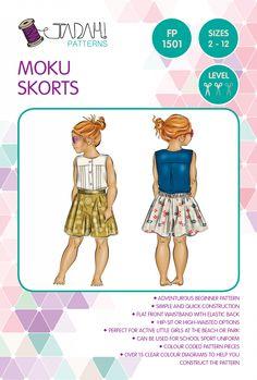 Moku Skorts Girls Shorts size 2 - 12 purchased December 2015