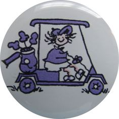 Check out our Golf Cart Golf Gals Purple BOG Ball Marker & Shiny Nickel Visor Clip! Find the best golf gear and accessories at Lori's Golf Shoppe. Click through now to see this!