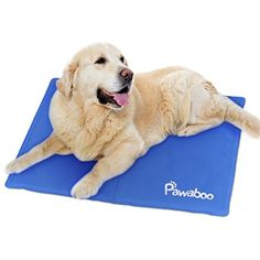 Pawaboo Pet Cooling Mat, 19.7 x 15.7 Inch Pressure Activated Self Cooling Cold Gel Mat Pad for Couches, Car Seats, Pet Beds  #Dogs
