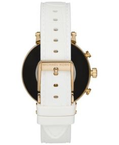 a1e52265ffda Michael Kors Access Women s Sofie Heart Rate Embossed White Silicone Strap  Touchscreen Smart Watch 41mm -
