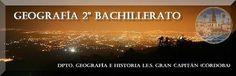 Temas, esquemas, ejercicios y vocabulario para la materia de Geografía de 2º de Bachillerato.