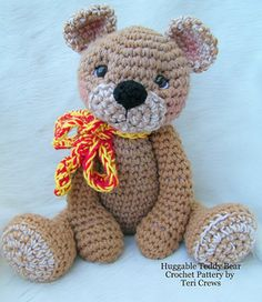 Teddy Bear for Hugs Crochet Pattern by Teri Crews