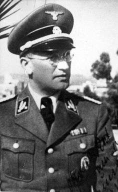 SS-Oberfuehrer Johann Hanke, commanded over the German police in the Lodz area. Face of evil.