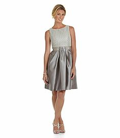 Would this dress look good with RED HEELS?   JS Boutique Boatneck Party Dress #Dillards