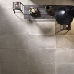 Backstage Floor Tiles available at Classic Ceramics. Grey cement look. #floor #grey #cement #concrete