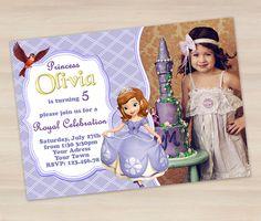 Sofia the First Invitation - Princess Sofia Invitation - PI022 on Etsy, US$6,85