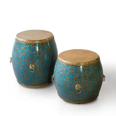 Chinese Wooden Drum Stool