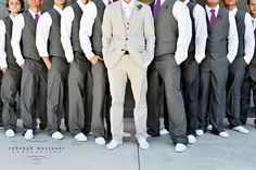 Purple & Grey groomsmen