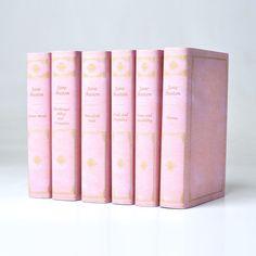 Jane Austen bound in pink leather