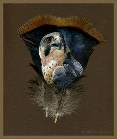 Gorgeous Animal Portraits Painted on Wild Turkey Feathers - My Modern Metropolis #painting #portraits #animals