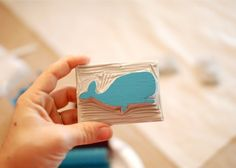 So cute! Use it with fabric paint, and bam! You have your own hand printed fabric! #whale
