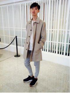 Ramon li|A.P.C.の中長外套を使ったコーディネートWEAR