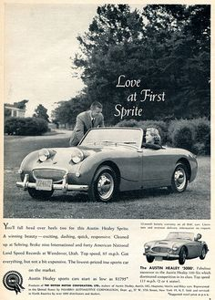 1960 Austin Healy Sprite Advertising Sports Car Illustrated July 1960