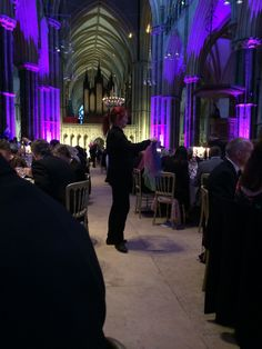 Magna Carta dinner in Lincoln Cathedral.
