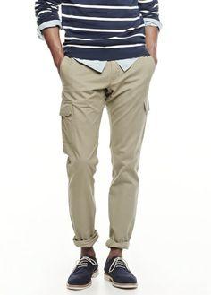 H.E. BY MANGO - Cotton cargo trousers #SS14 #MENSWEAR