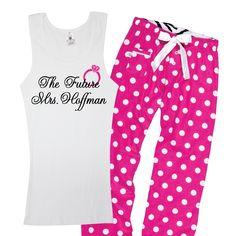 Future Mrs. Polka Dot Pajama Set. SUPER CUTE