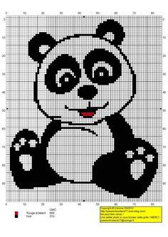 panda animali punto croce baby