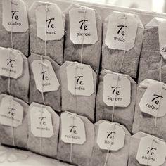 Tea bags -★- words