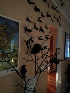 Cheap DIY Dollar Store Halloween Decoration ideas to spook your guests - Hike n Dip - - This Halloween spooke your guests with a scary and spooky Halloween decoration for your home. Try these Cheap DIY Dollar Store Halloween Decoration ideas. Halloween Tisch, Halloween Entryway, Halloween Fireplace, Halloween Kitchen Decor, Cheap Halloween Decorations, Diy Vampire Decorations, Halloween Snacks, Dollar Tree Halloween, Halloween Trees