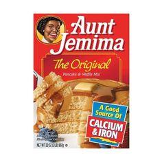 Aunt Jemima The Original Pancake Waffle Mix, 32 oz (50 MXN) ❤ liked on Polyvore featuring food