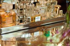 lovely perfume storage layout!