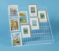 Lightweight collapsible greeting card display stand - ideal for mixed sizes in Crafts, Scrapbooking & Paper Crafts, Other Scrapbooking Supplies Craft Fair Displays, Craft Stall Display, Market Displays, Store Displays, Card Displays, Display Ideas, Booth Ideas, Pegboard Display, Cardboard Display