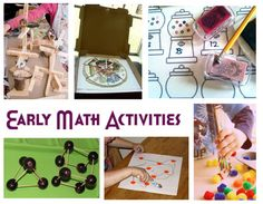 Early Math Activities for toddlers & preschoolers