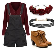 """""""Red❤️"""" by mcglitterpawz on Polyvore featuring Boohoo and Humble Chic"""