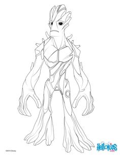 Color This Free Printable Groot Coloring Page From The Marvel Movie Guardians Of Galaxy Discover More Superheroes Like On Comic