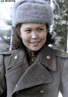 """demons: """"Hiuaz Kairovna Dospanova the only female pilot and navigator from Kazakhstan to serve during the Second World War, From May 1942 she served as navigator, and later became the. Female Pilot, Female Soldier, Victor Hugo, Military Women, Fighter Pilot, Red Army, World War Two, Wwii, Witch"""