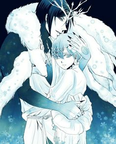 Book of Murder side story Sebastian the Ice King and Ciel as his prisoner whose heart's frozen ~ Credits to artist