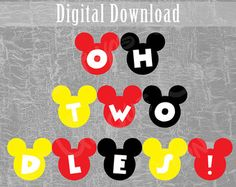 Items similar to Oh Twodles Banner Minnie Mouse Decor / Oh Toodles Minnie Decoration / Oh Two-dles DIY Banner / Minnie Mouse Banner / Disney Themed Decor on Etsy Mickey Mouse Clubhouse Birthday Party, Mickey Mouse Birthday, Minnie Mouse Party, Birthday Diy, 2nd Birthday Parties, Friend Birthday, Birthday Ideas, Happy Birthday, Mickey Y Minnie