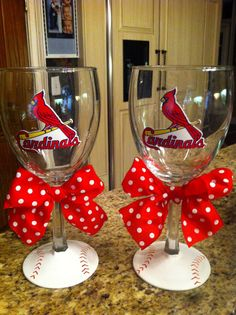 Baseball wine glasses