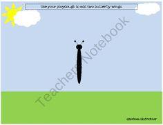 Preschool Playdough Mats from Preschool Unplugged on TeachersNotebook.com (6 pages)