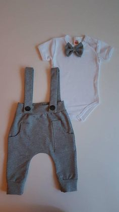 Baby Boy Outfits, Kids Outfits, Baby Christening Outfit, Suspender Pants, Baby Blessing, Baby Suit, Embroidered Clothes, Baby Baby, Ideas Para