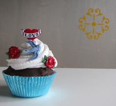 Fake Cupcake Faux Cupcake Retro Rockabilly by 12LegsCuriosities, $10.75