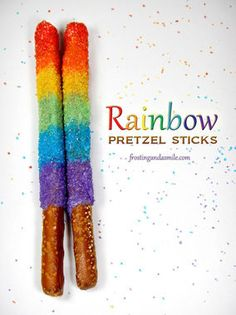 Yum! Rainbow pretzels are delicious and easy to make!