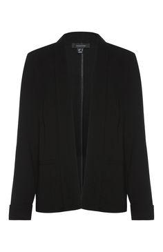 Black Crepe Unlined Jacket