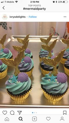 Ideas Baby Shower Girl Cupcakes Mermaid Parties For 2019 Baby Shower Cupcakes Neutral, Baby Girl Shower Themes, Little Mermaid Baby, Little Mermaid Parties, Sirenita Cake, Mermaid Baby Showers, Baby Shower Mermaid Theme, Mermaid Babyshower Ideas, Mermaid Themed Party