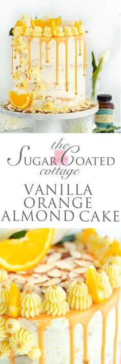 Vanilla-orange-almond cake recipe - vanilla orange and almond soaked - Desserts - cake recipes Baking Recipes, Cake Recipes, Dessert Recipes, Cupcakes, Cupcake Cakes, Orange And Almond Cake, Almond Cakes, Food Cakes, Cake Ingredients