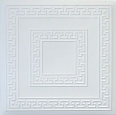 R42W 20 x 20 Tin Looking Styrofoam Glue Up White Ceiling Tile by Euro-Deco Ceilings, Inc.. $3.45. May be applied over popcorn ceilings. Can be painted with emulsion, acrylic or other water-based paints. Easy to install (mounted with usual mastic adhesives). Easy to clean with ordinary cleansers. Easy to cut. The Royal Collection tiles are made out of extruded polystyrene (a type of styrofoam) which makes them even, thin, and offers a smooth surface, with great na...