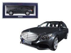 2014 Mercedes C Class T-Wagon Grey Metallic 1/18 Diecast Model Car by Norev