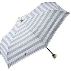 プラスニコ 遮光ボーダープリントミニ 全3色 折りたたみ傘 手開き 日傘/晴雨兼用 ボーダー ネイビー 6本骨 50cm 軽量 コンパクト傘 2098