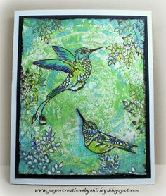 Paper Creations by Shirley: New Hummingbirds by Ryn!