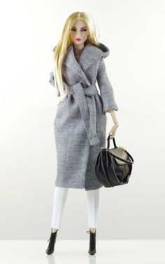 prepare for (FR2 body) set inc.: wool coat, top, pants, bag, boots.