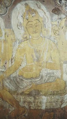 Mural painting on a wall of one of Bagan pagodas.