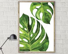 tropical decor home caribbean TROPICALDECOR delivers online tools that help you to stay in control of your personal information and protect your online privacy. Plant Painting, Plant Art, Watercolor Leaves, Watercolor Paintings, Leaf Paintings, Gouache Painting, Painting Art, Art Tropical, Tropical Colors